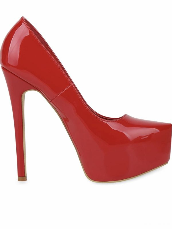 Red high heel platform